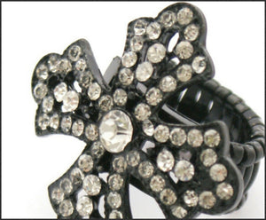 Diamante Cross Ring - Whitehot Jewellery - 2