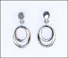 Load image into Gallery viewer, Double Oval Drop Earrings - Whitehot Jewellery - 1