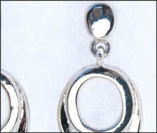 Load image into Gallery viewer, Double Oval Drop Earrings - Whitehot Jewellery - 2