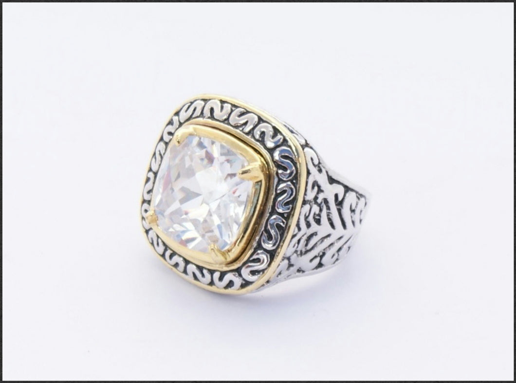 Filigree Square Ring - Whitehot Jewellery - 1