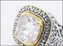 Load image into Gallery viewer, Filigree Square Ring - Whitehot Jewellery - 2