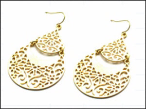 Gold Filigree Earrings - Whitehot Jewellery - 1