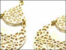 Load image into Gallery viewer, Gold Filigree Earrings - Whitehot Jewellery - 2