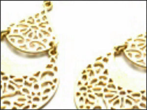 Gold Filigree Earrings - Whitehot Jewellery - 2