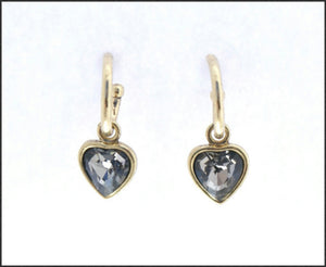 Gold Hoop & Heart Earrings - Whitehot Jewellery - 1