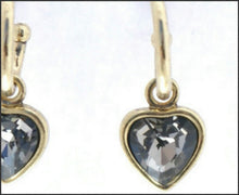 Load image into Gallery viewer, Gold Hoop & Heart Earrings - Whitehot Jewellery - 2