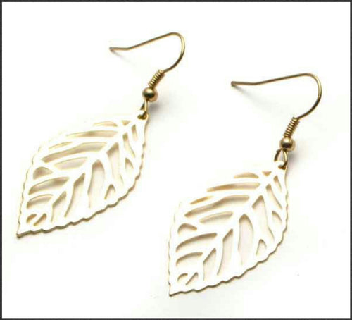 Gold Leaf Earrings - Whitehot Jewellery - 1