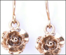 Load image into Gallery viewer, Gold Rose Drop Earrings - Whitehot Jewellery - 2