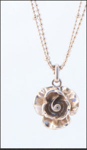 Gold Rose Necklace - Whitehot Jewellery - 2