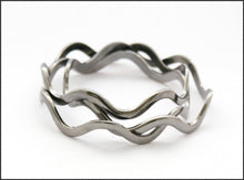 Load image into Gallery viewer, Gunmetal Wave Bangle - Whitehot Jewellery - 1