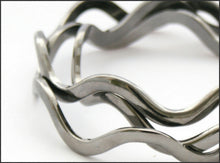 Load image into Gallery viewer, Gunmetal Wave Bangle - Whitehot Jewellery - 2