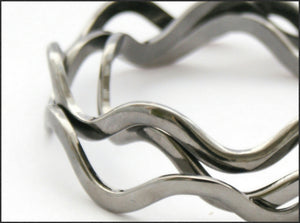 Gunmetal Wave Bangle - Whitehot Jewellery - 2