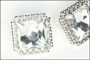 Large CZ Stud Earrings - Whitehot Jewellery - 2
