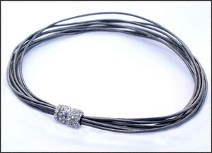 Leather/Silver Necklace - Whitehot Jewellery - 1