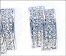 Load image into Gallery viewer, Pave Double Hoop Earrings - Whitehot Jewellery - 2