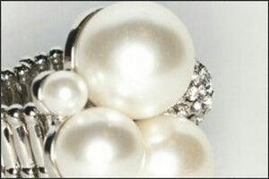 Pearl & Crystal Ring - Whitehot Jewellery - 2