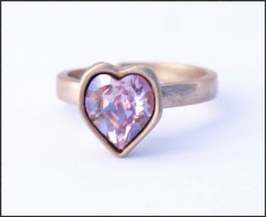 Pink Heart Ring - Whitehot Jewellery - 1