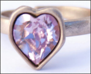 Pink Heart Ring - Whitehot Jewellery - 2