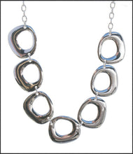 Load image into Gallery viewer, Silver 7 Disc Necklace - Whitehot Jewellery - 1
