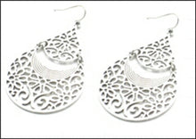 Load image into Gallery viewer, Silver Filigree Earrings - Whitehot Jewellery - 1