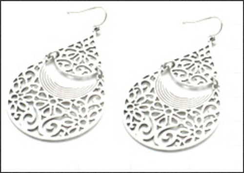 Silver Filigree Earrings - Whitehot Jewellery - 1