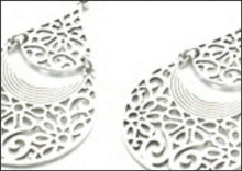Load image into Gallery viewer, Silver Filigree Earrings - Whitehot Jewellery - 2