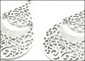 Silver Filigree Earrings - Whitehot Jewellery - 2