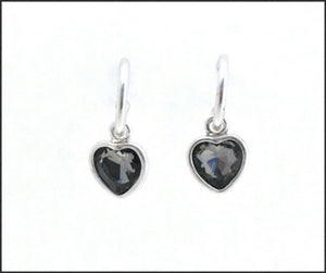 Silver Hoop & Heart Earrings - Whitehot Jewellery - 1