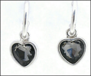 Silver Hoop & Heart Earrings - Whitehot Jewellery - 2