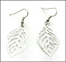 Load image into Gallery viewer, Silver Leaf Earrings - Whitehot Jewellery - 1