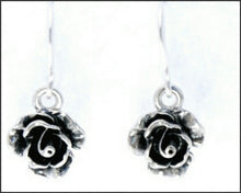 Load image into Gallery viewer, Silver Rose Drop Earrings - Whitehot Jewellery - 2