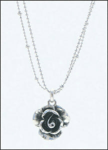 Silver Rose Necklace - Whitehot Jewellery - 2