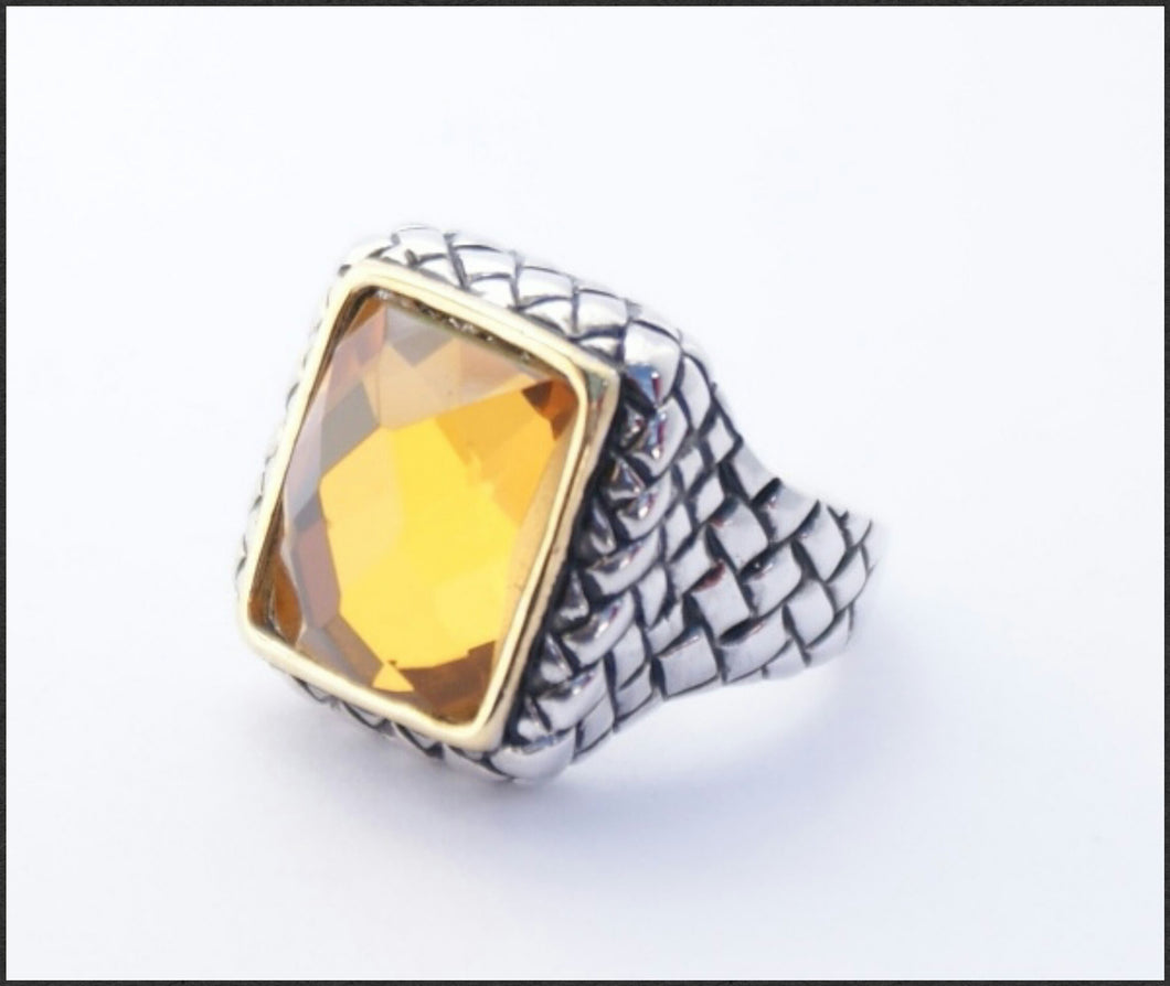 Square Topaz Ring - Whitehot Jewellery - 1
