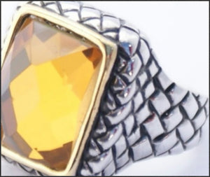 Square Topaz Ring - Whitehot Jewellery - 2