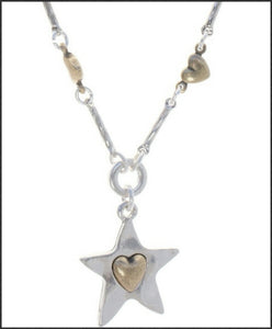 Star and Hearts Necklace - Whitehot Jewellery - 2