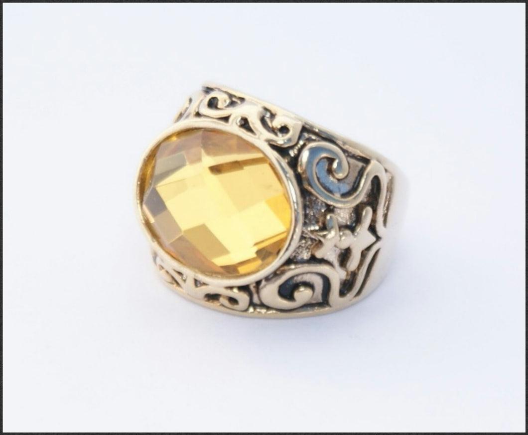Topaz Oval Ring - Whitehot Jewellery - 1