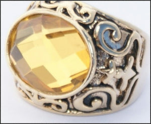 Topaz Oval Ring - Whitehot Jewellery - 2