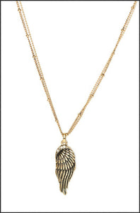 Whitehot Wing/Gold Necklace - Whitehot Jewellery - 1