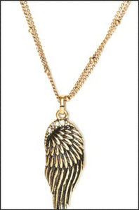Whitehot Wing/Gold Necklace - Whitehot Jewellery - 2