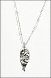 Whitehot Wing/Silver Necklace - Whitehot Jewellery - 1