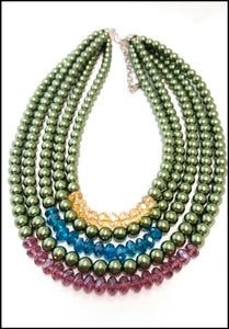5 Strand Jewel Tones - Whitehot Jewellery - 1