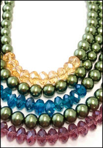 5 Strand Jewel Tones - Whitehot Jewellery - 2