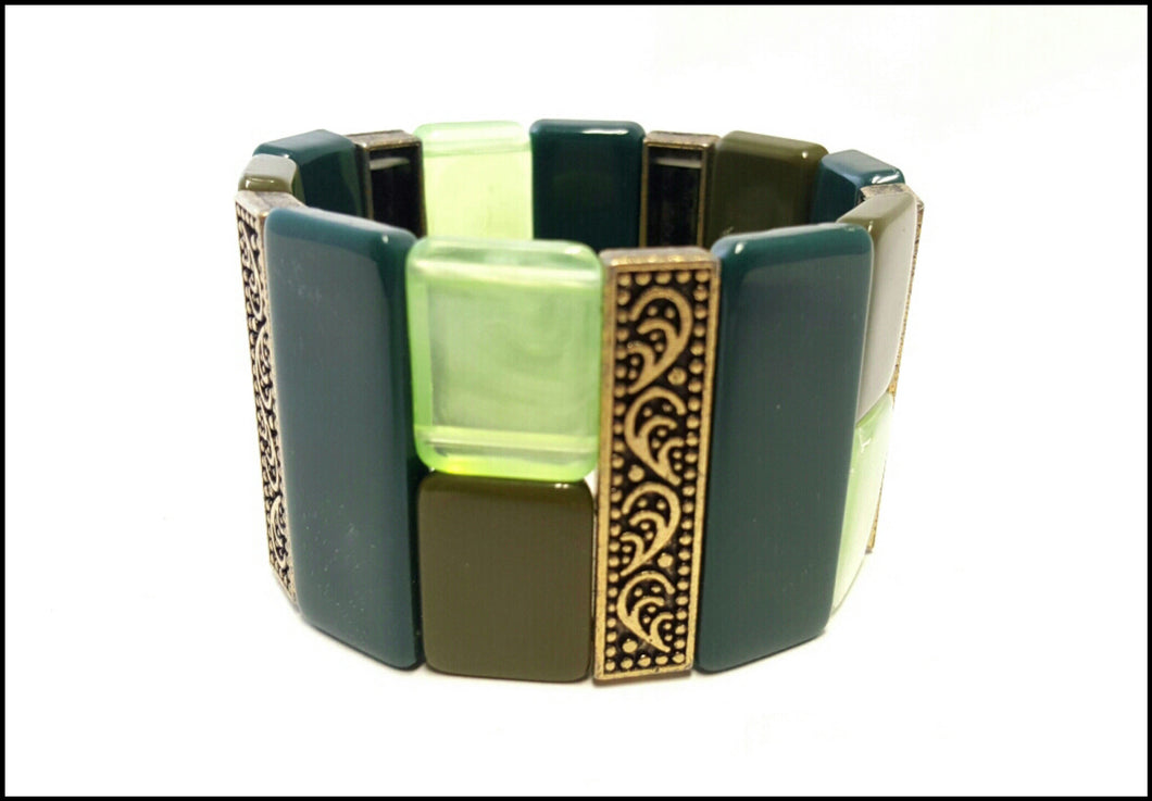 Avocado Green Cuff - Whitehot Jewellery - 1