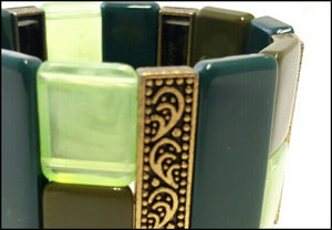 Avocado Green Cuff - Whitehot Jewellery - 2