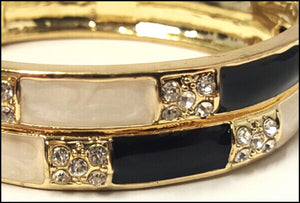 Ivory & Black Bangle - Whitehot Jewellery - 2