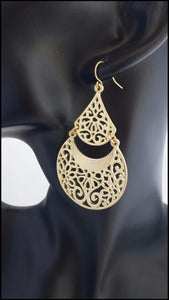 Gold Filigree Earrings - Whitehot Jewellery - 3