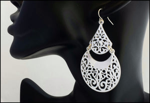 Silver Filigree Earrings - Whitehot Jewellery - 3