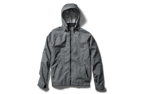 swrve 3 layer fully seam sealed waterproof full zip jacket with removable hood