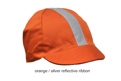 reflective cotton four panel cycling cap