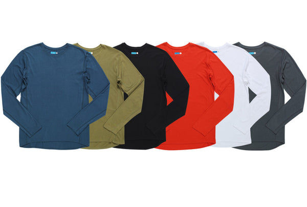 modal cotton long sleeve crew top